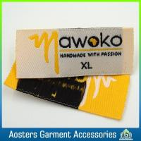 Buy cheap Custom Made Brand Size Woven Label for Clothing from wholesalers