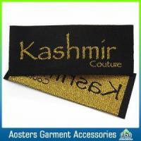 Buy cheap Custom Garment Made Branding Sewing Gold Metallic Woven Labels product