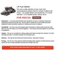 Buy cheap Forklift Parts For Sale Starters for Forklifts product