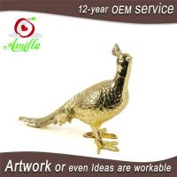 Buy cheap Resin Golden Paired Peacock Statue and Gifts Items product