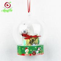 Quality Unique Resin Dog With Small Lights Strings In Dome Xmas Decorations for sale