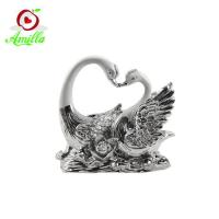 Buy cheap High Quality Resin Swan Sculptures Home Decor Wedding Gifts product