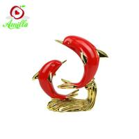Buy cheap Artificial high quality resin dophins statues home decor souvenirs product