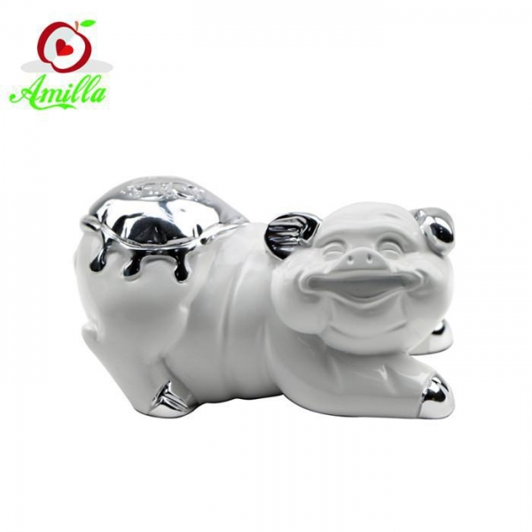Quality Funny Handmade Resin Crafts Pig Statues Home Garden Ornaments for sale