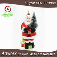 Buy cheap Hand Blown Glass Santa Claus Ornaments For Christmas from wholesalers