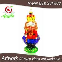 Hand Blown Glass Nutcracker Decorations For Christmas Ornaments