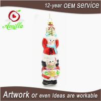 Buy cheap Hand Made Painted Glass Snowman Ornamants For Christmas Tree Hanging from wholesalers