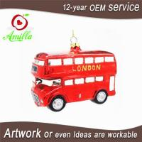 Buy cheap Hand Blown Glass Red Bus Decoration For Christmas Tree Ornaments from wholesalers