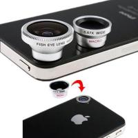 Buy cheap 3 Lens Wide Lens and Macro Lens and Fish Eye Lens for Samsung HTC Cell Phones product
