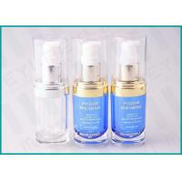 20 ML Oval Shape PMMA Acrylic Lotion Pump Bottle For Cosmetic Essence