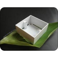 Buy cheap Metal Electrical Box Single Gang 40mm Deep PVC Pattress Box With Brass Nut product