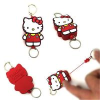 Key chains PVC easy to pull buckle