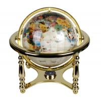 Buy cheap D.22cm luxury marble globe.Gemstone marble globe golden plated meridian and base.with compass. product
