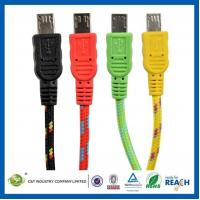 EAQ00013 Fabric Braided 3M 10FT Micro USB Sync Data Cable Charger Cord for Samsung Galaxy s4