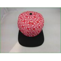 Snapback hats BC-012 High quality flat brim 5 panel snapback cap with heat transfer printing
