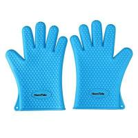 Buy cheap HornTide Heat Resistant Silicone Gloves Five-Fingered Grip (1 Pair) Blue product