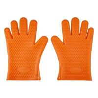 Buy cheap HornTide Heat Resistant Silicone Gloves Five-Fingered Grip (1 Pair) Orange product