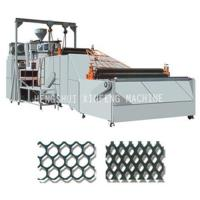 PE plastic rigid flat net machine