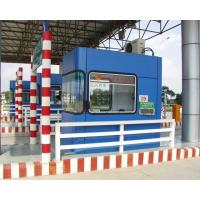 Colour steel plate monodirectional toll booth
