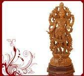 Buy cheap Handcarved Teakwood Shivaparvathi Statue product