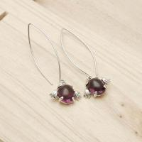 Buy cheap Sterling Silver Cute angel egg purple earring product