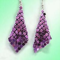 Buy cheap Mesh purple earrings product