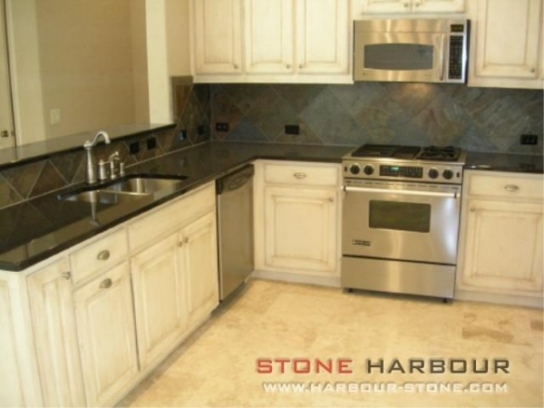 Solid Black Countertops : Quality Shanxi black Solid Surface Granite Countertop (Black Granite ...