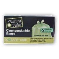 Buy cheap Trash Bags Natural Value Compostable Trash Bags product