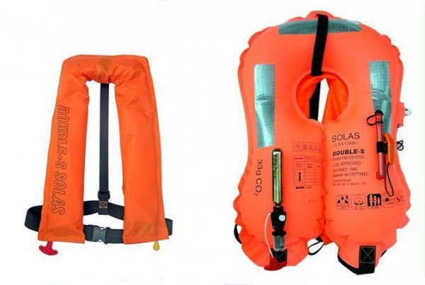 Hit water automatic inflatable life jacket 40222720 for Best inflatable life vest for fishing