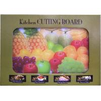 """Buy cheap 205 - Glass Cutting Board with Fruits Picture 12"""" X 16"""" (12"""" X 16"""" ) from Wholesalers"""