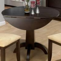 Buy cheap Dark Chianti Double Drop Leaf Dining Table W/Pedestal Base from wholesalers