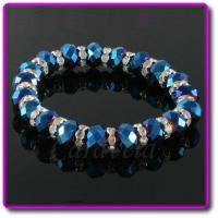 Buy cheap Blue AB Sparkly Stretch Bracelet product