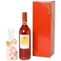 Wine and Champagne Rose Wine and Pink Truffles