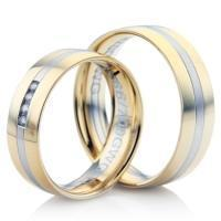 Buy cheap Double Comfort Bi-Colour Diamond Wedding Ring product