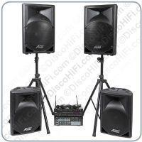 Buy cheap Stage 12 Karaoke System - Quad Radio Mic, 12in + 15in Portable Speakers, 400w Amp & Player from wholesalers