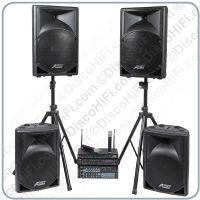 Buy cheap Stage 11 Karaoke System - Twin Radio Mic, 12in + 15in Portable Speakers, 400w Amp & Player from wholesalers