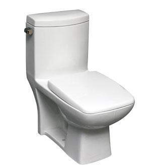 Images Of 15 INCH ELONGATED ONE PIECE TOILET 3 INCH FLAPPER 6L White 41229689