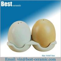 Buy cheap Ceramic salt&pepper shaker ceramic egg shaped salt and pepper shaker product
