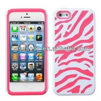 Buy cheap Zebra Hybrid Silicone Hard Case Cover For iPhone 5 5G product