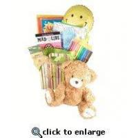 Buy cheap Get Well Gift For Kids |Get Well Giftbasket Chidren | Get well gift with reading material teddy bear product