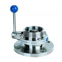 Buy cheap Single flange single threaded butterfly valve product