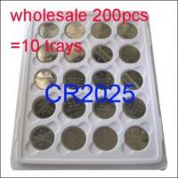 Buy cheap Wholesale 200 x CR2025 DL2025 ECR2025 BR2025 KCR2025 LM2025 Cell Coin Battery 3V product