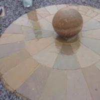 Buy cheap Mixed Brown Circle (various sizes - Indian Sandstone) product
