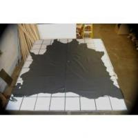 China VERY DARK BLUE UPHOLSTERY COW HIDE LEATHER SKIN e56 on sale