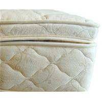 Buy cheap Beds and Bedding Natural Latex Mattress Topper Quilted with Organic Cotton and Wool product
