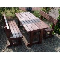 Eco outdoor furniture patio table set patio table with seperate seats