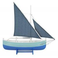 Buy cheap Biscay Fishing Boat Blue Wooden Model 18.5