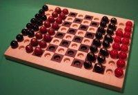 Buy cheap Wooden Marble Game Board, 2 GAMES IN 1, Chess & Checkers, Maple & Walnut [W-1929alt.#2] product
