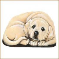 China YELLOW LABRADOR PUPPER WEIGHT Soft Sculpture Dog Figurine on sale
