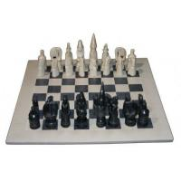 China Soapstone Homeware & Gifts natural black chess set (large) (SS139) on sale